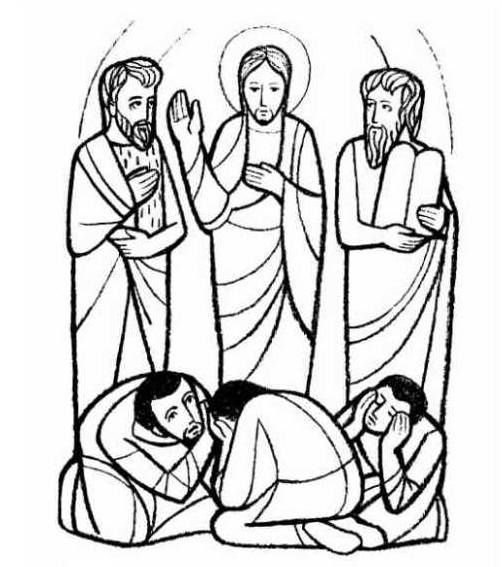 jesuss transfiguration coloring pages - photo#9
