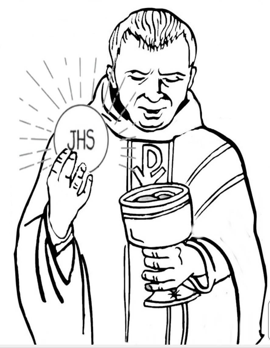 sacraments of the catholic church coloring pages - photo #37
