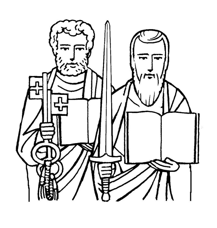 coloring pages about paul - 1000 images about year of mercy kids activities on